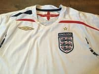 Global Classic Football Shirts   2007 England Vintage Old Soccer Jerseys